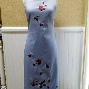 Mandalay Embroidered Sheath Cocktail Dress 4